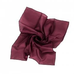 Nickituch Aubergine Bordeaux 100% reine Seide 55x55cm