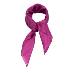 Nickituch purpur lila violett 100% reine Seide 55x55cm Damen unifarben