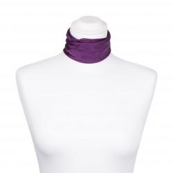 Nickituch Seidentuch violett lila 100% reine Seide 55x55cm unifarben