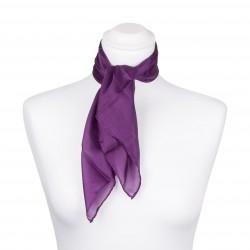 Nickituch Seidentuch violett lila 100% reine Seide 55x55cm Damen einfarbig