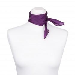 Nickituch Seidentuch violett lila 100% reine Seide 55x55cm uni einfarbig
