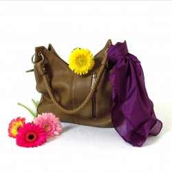 Nickituch Seidentuch violett lila 100% reine Seide 55x55cm einfarbig