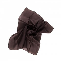 Nickituch Seidentuch 55x55 cm Mokka Dunkelbraun uni einfarbig
