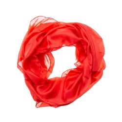 Seidenschal 180x45cm rot einfarbig reine Seide uni
