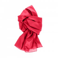 Seidenschal rot tiefrot 100% reine Seide 180x45cm