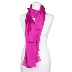 pinker Seidenschal rosa 100% reine Seide 180x45cm