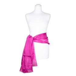 Seidenschal pink rosa 100% reine Seide 180x45cm Seidengürtel