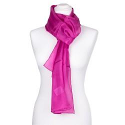 Seidenschal pink rosa 100% reine Seide 180x45cm einfarbig unifarben