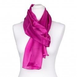 Schal aus 100% reiner Seide pink rosa 180x45cm einfarbig