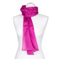 pink-rosaner Seidenschal 100% reine Seide 180x45cm Damen