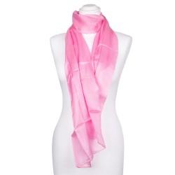 Seidenschal rosa altrosa 100% reine Seide Damen 180x45cm unifarben einfarbig