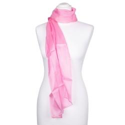 Damen Seidenschal rosa altrosa 100% reine Seide 180x45cm einfarbig