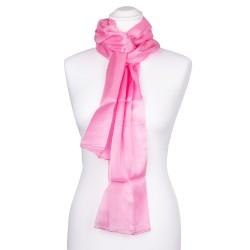 Seidenschal rosa altrosa 100% reine Seide Damen 180x45cm unifarben