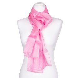 Seidenschal rosa altrosa 100% reine Seide 180x45cm einfarbig