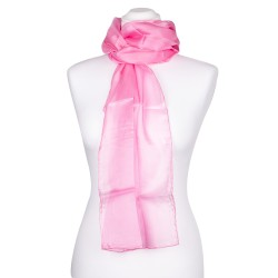 Rosa-Altrosa Seidenschal 100% reine Seide 180x45cm Damen