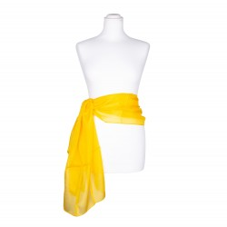 Seidenschal gelb goldgelb 100% reine Seide 180x45cm