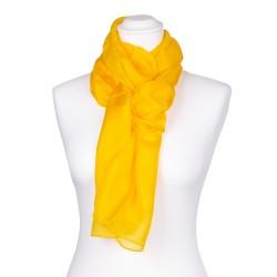 Seidenschal gelb goldgelb 100% reine Seide 150x35cm unifarben