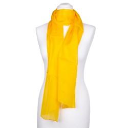 Seidenschal gelb indisch gelb 100% reine Seide 180x45cm Damen