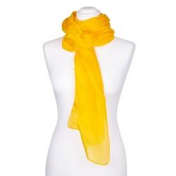 Seidenschal gelb goldgelb 100% reine Seide 150x35cm uni einfarbig