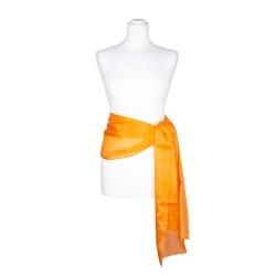 Seidenschal orange 100% reine Seide 180x45cm Seidengürtel