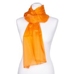 Damen-Schal aus 100% reine Seide orange 180x45cm einfarbig
