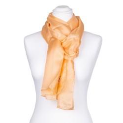 Seidenschal orange apricot Aprikose 100% reine Seide 180x45cm einfarbig