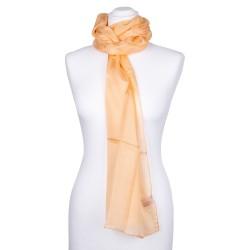 pastell oranger Seidenschal apricot 100% Seide 180x45cm Damen