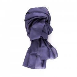 Seidenschal blau marineblau 100% reine Seide 180x45cm
