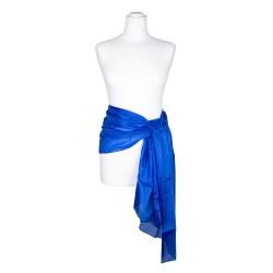 Seidenschal blau royalblau dunkelblau 100% reine Seide 180x45cm Seidengürtel