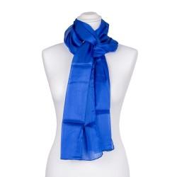royalblauer dunkelblauer Seidenschal 100% reine Seide 180x45cm damen einfarbig