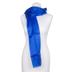 royalblauer dunkelblauer Seidenschal 100% reine Seide 180x45cm