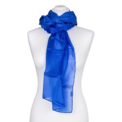 Seidenschal blau royalblau dunkelblau 100% reine Seide 180x45cm einfarbig