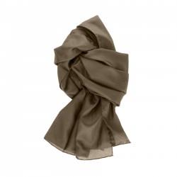 Seidenschal khaki 100% reine Seide 180x45cm