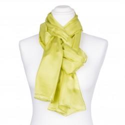 Seidenschal Limone grün limette hellgrün 100% reine Seide 180x45cm einfarbig