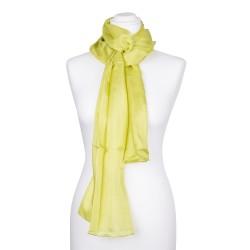 Seidenschal Limone grün limette hellgrün 100% reine Seide 180x45cm Damen