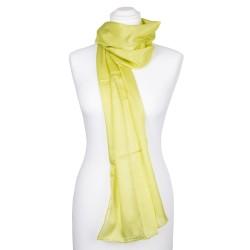 Seidenschal Limone grün limette hellgrün 100% reine Seide 180x45cm unifarben