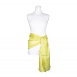 Seidenschal Limone grün limette hellgrün 100% reine Seide 180x45cm Seidengürtel