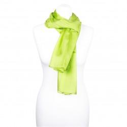 Seidenschal Grün Maigrün 150x35 cm unifarben