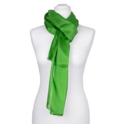Seidenschal grün minzgrün 100% reine Seide 180x45cm unifarben