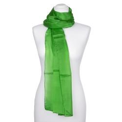 Seidenschal grün minzgrün 100% reine Seide 180x45cm Damen einfarbig uni