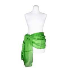 Seidenschal grün minzgrün 100% reine Seide 180x45cm einfarbig Seidengürtel
