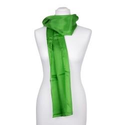 minzgrüner Seidenschal 100% reine Seide 180x45cm einfarbig grün Damen