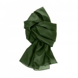 Seidenschal Dunkelgrün Waldgrün 100% reine Seide 150x35cm