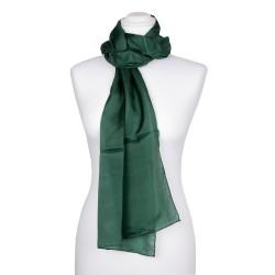 Seidenschal Waldgrün Dunkelgrün 100% reine Seide 180x45cm einfarbig