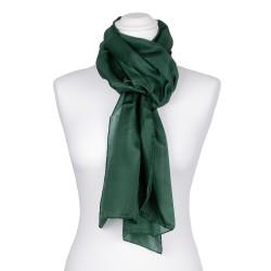waldgrüner dunkelgrüner Seidenschal 100% reine Seide 180x45cm Damen einfarbig