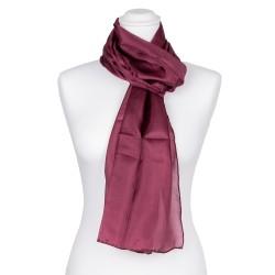 Seidenschal Aubergine Lila 100% reine Seide 180x45cm violett dunkelrot