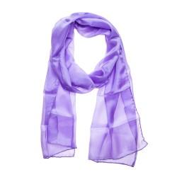 Seidenschal Halstuch Schal Flieder lila violett reine Seide