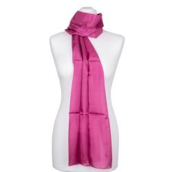 pupur Seidenschal violett 100% reine Seide 180x45cm Damen einfarbig