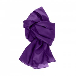Seidenschal violett lila 100% reine Seide 180x45cm