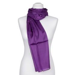 violetter Seidenschal 100% reine Seide lila 180x45cm Damen einfarbig